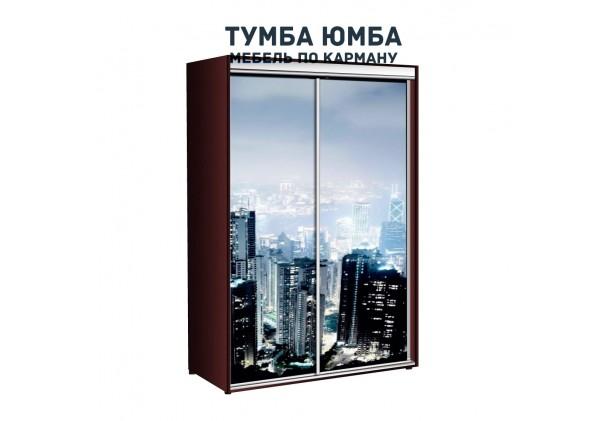 фото недорогой красивый и современный шкаф-купе 1000/450/2100 с раздвижными дверьми с фотопечатью из ЛДСП от производителя в интернет-магазине TUMBA-UMBA™ Украина
