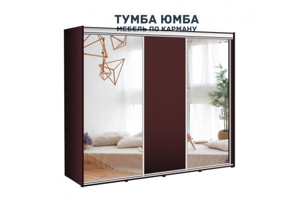фото недорогой красивый и современный шкаф-купе 2200/450/2100 с раздвижными дверьми с чистыми зеркалами из ЛДСП от производителя в интернет-магазине TUMBA-UMBA™ Украина
