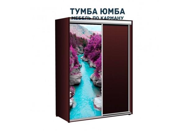 фото недорогой красивый и современный шкаф-купе 1600/600/2100 с раздвижными дверьми с фотопечатью из ЛДСП от производителя в интернет-магазине TUMBA-UMBA™ Украина