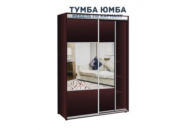 фото недорогой красивый и современный шкаф-купе 1100/450/2400 с зеркальными раздвижными дверьми из ЛДСП от производителя в интернет-магазине TUMBA-UMBA™ Украина