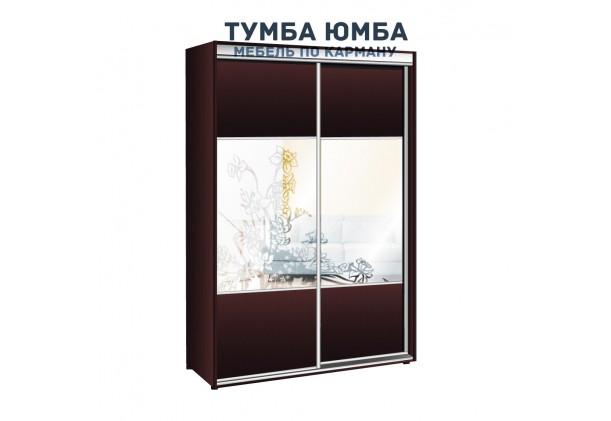 фото недорогой красивый и современный шкаф-купе 1600/450/2400 с зеркальными раздвижными дверьми из ЛДСП от производителя в интернет-магазине TUMBA-UMBA™ Украина