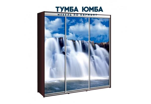 фото недорогой красивый и современный шкаф-купе 2200/450/2400 с раздвижными дверьми с фотопечатью из ЛДСП от производителя в интернет-магазине TUMBA-UMBA™ Украина