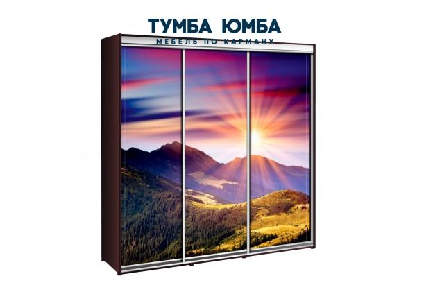 фото недорогой красивый и современный шкаф-купе 2300/450/2400 с раздвижными дверьми с фотопечатью из ЛДСП от производителя в интернет-магазине TUMBA-UMBA™ Украина