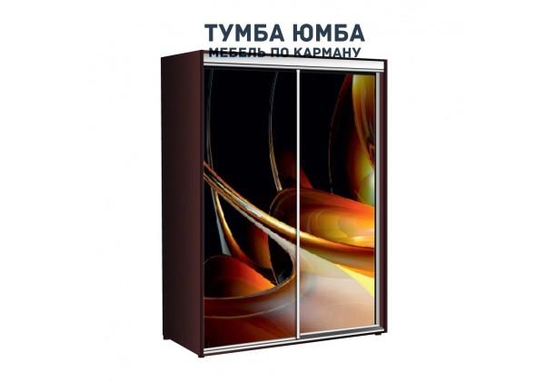 фото недорогой красивый и современный шкаф-купе 1000/600/2200 с раздвижными дверьми с фотопечатью из ЛДСП от производителя в интернет-магазине TUMBA-UMBA™ Украина
