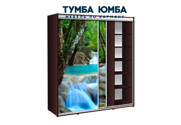 фото недорогой красивый и современный шкаф-купе 2000/600/2400 с раздвижными дверьми фотопечатью из ЛДСП от производителя в интернет-магазине TUMBA-UMBA™ Украина