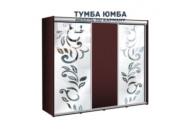фото недорогой красивый и современный шкаф-купе 2400/600/2100 с зеркальными раздвижными дверьми из ЛДСП от производителя в интернет-магазине TUMBA-UMBA™ Украина