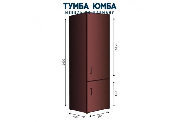 Фото недорогой стандартный закрытый пенал-11 с распашными дверцами и полками ДСП, размеры 600х450х2400, для дома и офиса дешево от производителя с доставкой по всей Украине