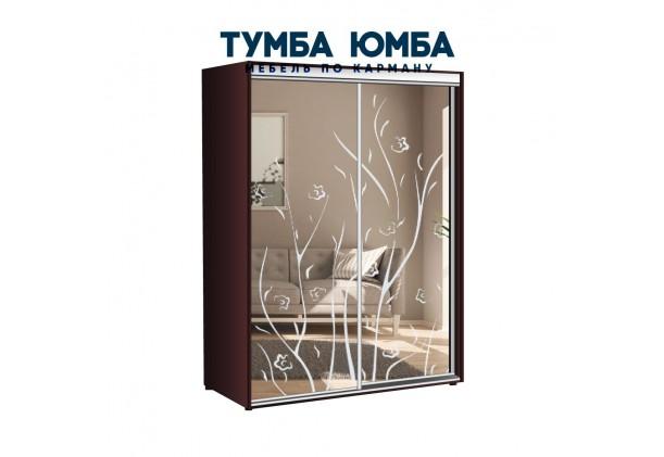 фото недорогой красивый и современный шкаф-купе 1500/450/2200 с зеркальными раздвижными дверьми из ЛДСП от производителя в интернет-магазине TUMBA-UMBA™ Украина