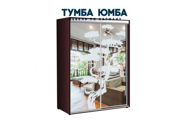 фото недорогой красивый и современный шкаф-купе 1500/600/2200 с зеркальными раздвижными дверьми из ЛДСП от производителя в интернет-магазине TUMBA-UMBA™ Украина