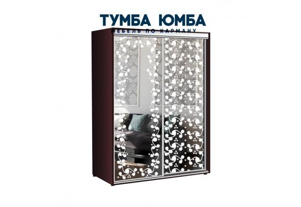фото недорогой красивый и современный шкаф-купе 1000/450/2200 с раздвижными дверьми с фотопечатью и пескоструйным рисунком из ЛДСП от производителя в интернет-магазине TUMBA-UMBA™ Украина