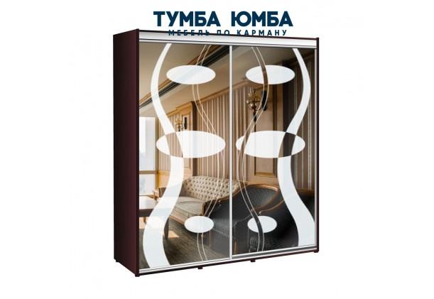 фото недорогой красивый и современный шкаф-купе 1900/450/2200 с раздвижными дверьми фотопечатью из ЛДСП от производителя в интернет-магазине TUMBA-UMBA™ Украина