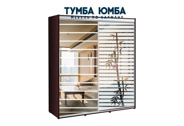 фото недорогой красивый и современный шкаф-купе 2000/600/2200 с зеркальными раздвижными дверьми из ЛДСП от производителя в интернет-магазине TUMBA-UMBA™ Украина