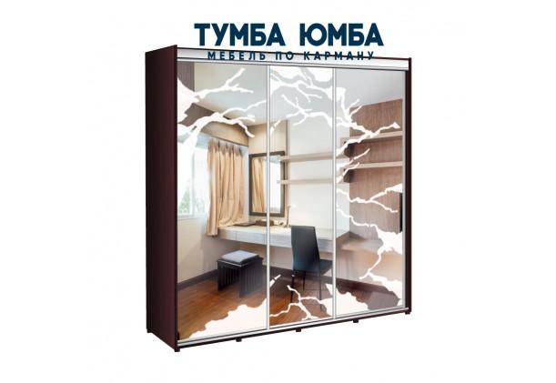 фото недорогой красивый и современный шкаф-купе 2200/600/2200 с раздвижными дверьми с фотопечатью из ЛДСП от производителя в интернет-магазине TUMBA-UMBA™ Украина