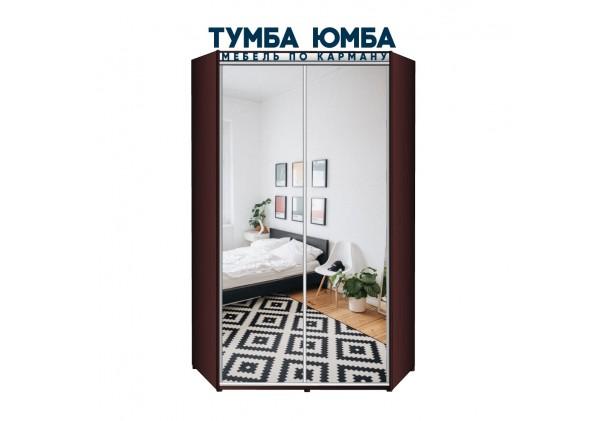 фото недорогой красивый и современный шкаф-купе 1300/1300/2200 с раздвижными дверьми с пескоструйным рисунком из ЛДСП от производителя в интернет-магазине TUMBA-UMBA™ Украина