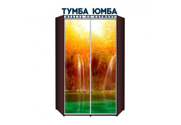 фото недорогой красивый и современный шкаф-купе 1400/1400/2200 с раздвижными дверьми с фотопечатью рисунком из ЛДСП от производителя в интернет-магазине TUMBA-UMBA™ Украина