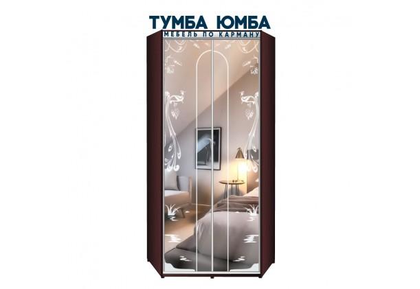 фото недорогой красивый и современный угловой шкаф-купе 1000/1000/2400 с раздвижными дверьми с фотопечатью из ЛДСП от производителя в интернет-магазине TUMBA-UMBA™ Украина