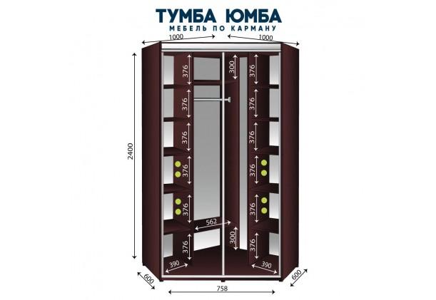 Угловой шкаф-купе 1000/1000/2400