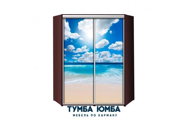 фото недорогой красивый и современный угловой шкаф-купе 1500/1500/2400 с раздвижными дверьми с фотопечатью из ЛДСП от производителя в интернет-магазине TUMBA-UMBA™ Украина