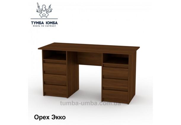 Фото готовый прямой стандартный стол Декан-3 в офис, для ребенка, для дома или для учителя в цвете орех дешево от производителя с доставкой по всей Украине
