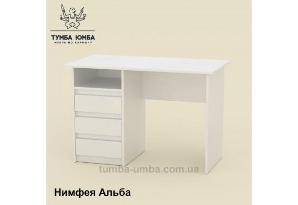 Фото готовый прямой стандартный стол Декан в офис, для ребенка, для дома или для учителя в белом цвете дешево от производителя с доставкой по всей Украине