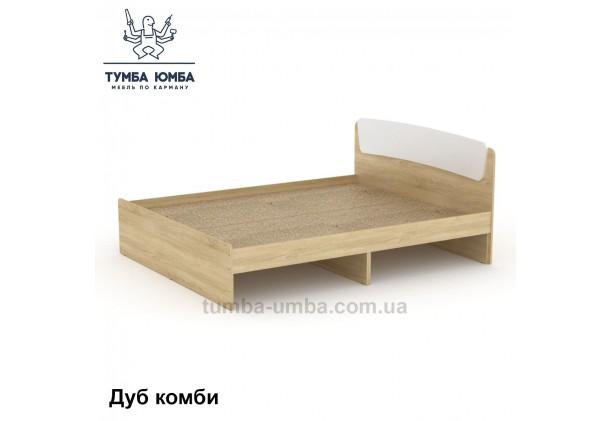 фото стандартная кровать Классика-140 см Компанит в спальню, на дачу или для общежития в цвете дуб сонома с белым дешево от производителя с доставкой по всей Украине