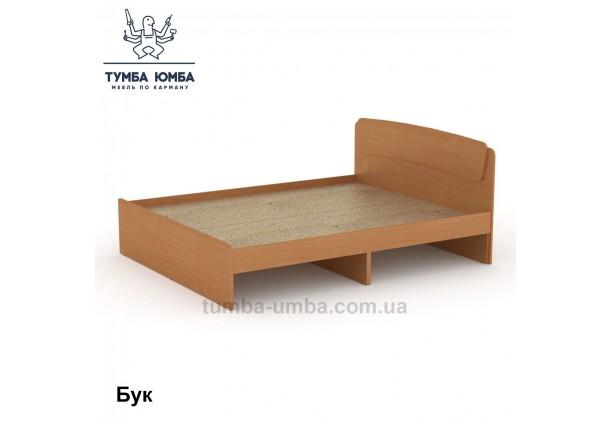 фото стандартная кровать Классика-160 см Компанит в спальню, на дачу или для общежития в цвете бук дешево от производителя с доставкой по всей Украине