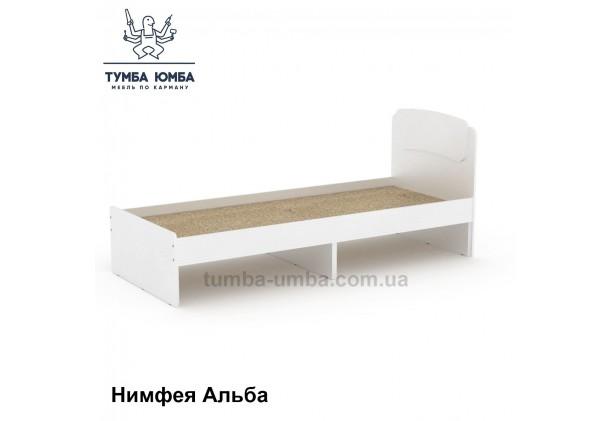 фото стандартная кровать Классика-80 см Компанит в спальню, на дачу или для общежития в белом цвете дешево от производителя с доставкой по всей Украине
