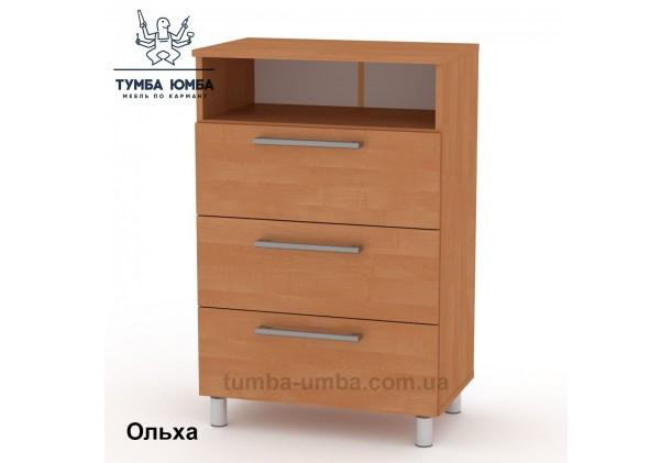 Фото недорогой современный комод-3 ДСП Компанит цвет ольха в интернет-магазине TUMBA-UMBA™ Украина