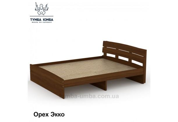 фото стандартная кровать Модерн-160 см Компанит в спальню, на дачу или для общежития в цвете орех дешево от производителя с доставкой по всей Украине