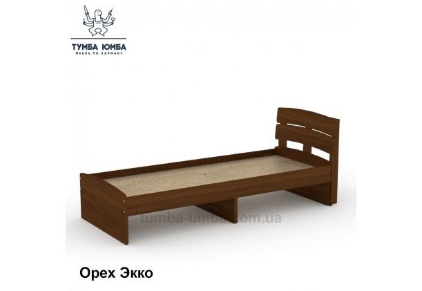 фото стандартная кровать Модерн-80 см Компанит в спальню, на дачу или для общежития в белом цвете орех дешево от производителя с доставкой по всей Украине