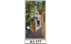 Фотопечать А1-177 для шкафа-купе на одну дверь. Старинная улочка
