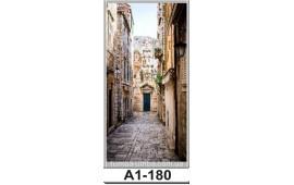 Фотопечать А1-180 для шкафа-купе на одну дверь. Старинная улочка