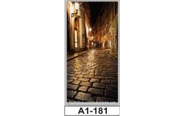 Фотопечать А1-181 для шкафа-купе на одну дверь. Старинная улочка