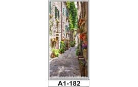 Фотопечать А1-182 для шкафа-купе на одну дверь. Старинная улочка