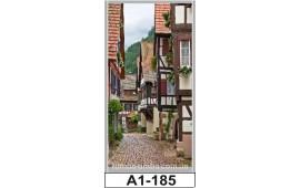 Фотопечать А1-185 для шкафа-купе на одну дверь. Старинная улочка