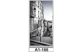 Фотопечать А1-186 для шкафа-купе на одну дверь. Старинная улочка