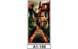 Фотопечать А1-188 для шкафа-купе на одну дверь. Старинная улочка