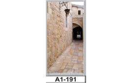 Фотопечать А1-191 для шкафа-купе на одну дверь. Старинная улочка