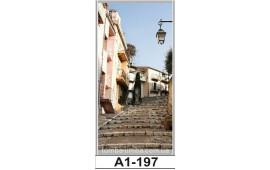 Фотопечать А1-197 для шкафа-купе на одну дверь. Старинная улочка