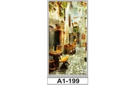 Фотопечать А1-199 для шкафа-купе на одну дверь. Старинная улочка