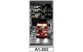 Фотопечать А1-202 для шкафа-купе на одну дверь. Ночной город