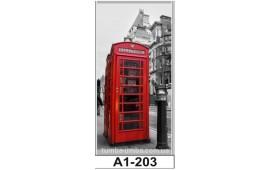 Фотопечать А1-203 для шкафа-купе на одну дверь. Лондон