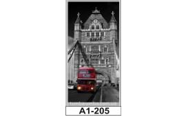 Фотопечать А1-205 для шкафа-купе на одну дверь. Лондон