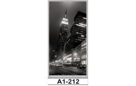 Фотопечать А1-212 для шкафа-купе на одну дверь. Ночной город