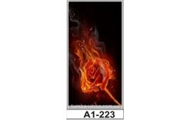 Фотопечать А1-223 для шкафа-купе на одну дверь. Огонь