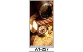 Фотопечать А1-227 для шкафа-купе на одну дверь. Компас