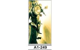 Фотопечать А1-249 для шкафа-купе на одну дверь. Мотоцикл
