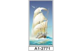 Фотопечать А1-2771 для шкафа-купе на одну дверь. Корабль