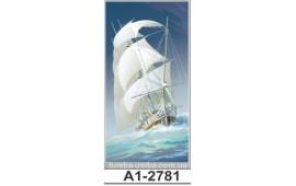 Фотопечать А1-2781 для шкафа-купе на одну дверь. Корабль