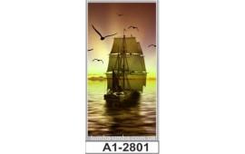Фотопечать А1-2801 для шкафа-купе на одну дверь. Корабль